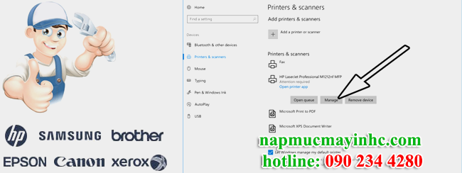 Khắc phục lỗi Printer requires your attention - NẠP MỰC MÁY IN 80K